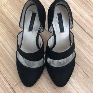 Zara black suede heels size 37